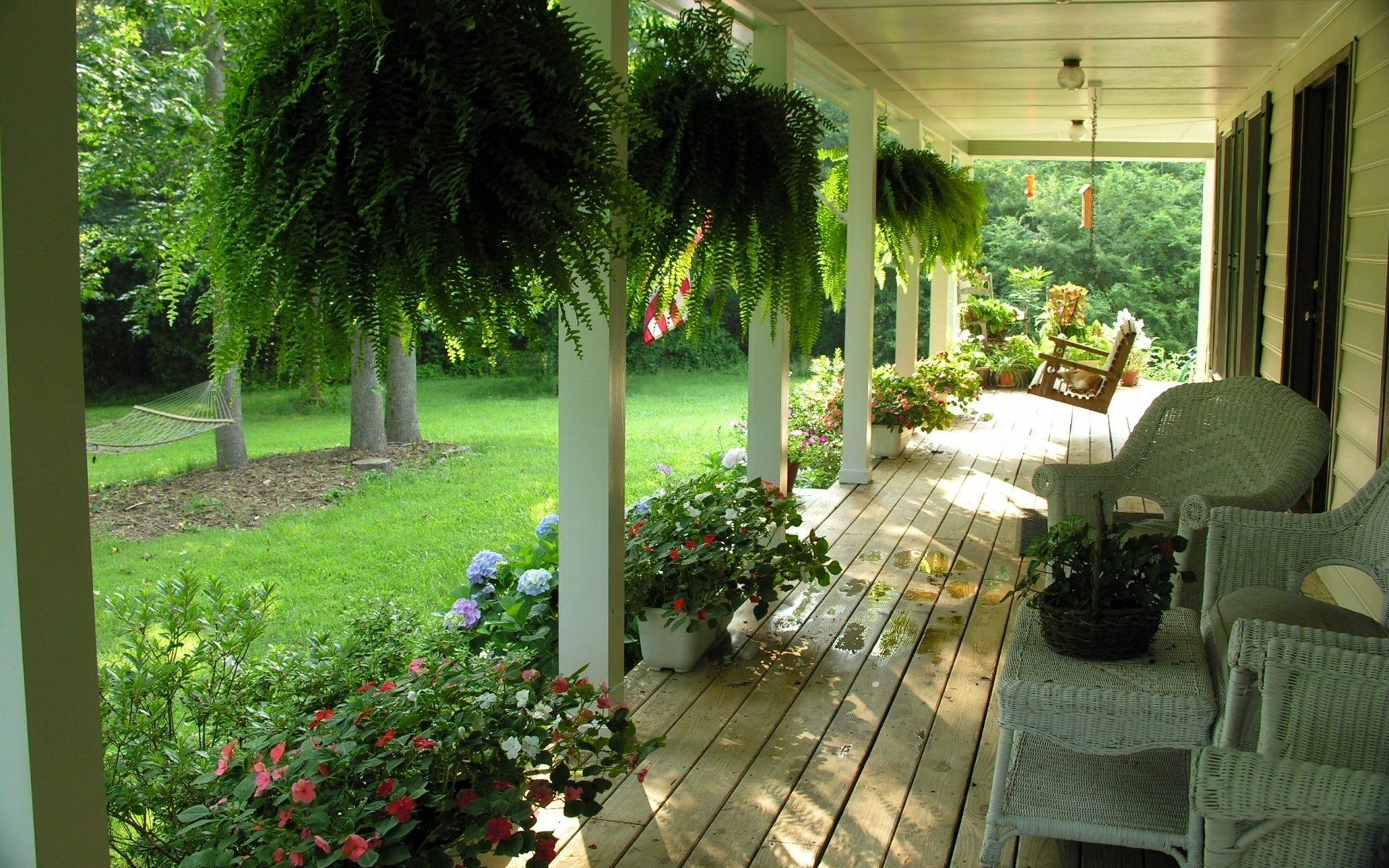 style nature veranda